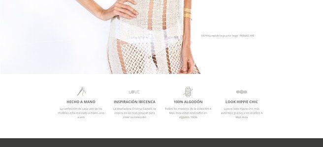 Ejemplo de Página web Low Cost para la marca de ropa «A Mao Ibiza»
