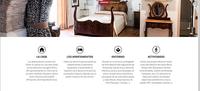 Página Web Low Cost para apartamentos rurales
